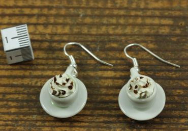 Cocoa Earrings Miniblings Hot Chocolate Cup Of Coffee Iced Coffee Café – Bild 5