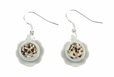 Cocoa Earrings Miniblings Hot Chocolate Cup Of Coffee Iced Coffee Café – Bild 7