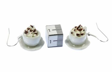 Cocoa Earrings Miniblings Hot Chocolate Cup Of Coffee Iced Coffee Café – Bild 8
