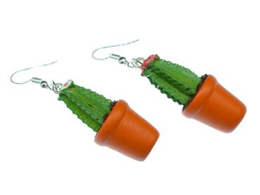Cactus Cacti Pot Plant Earrings Miniblings Flowers Single-Stemmed 3D – Bild 4