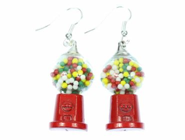 Gumball Machine Earrings Miniblings Chewing Gum Candy Machine – Bild 1