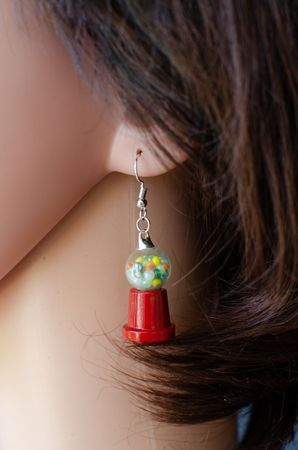 Gumball Machine Earrings Miniblings Chewing Gum Candy Machine – Bild 4