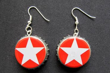Capsules Star Earrings Miniblings Sterni Beer Christmas Berlin German Germany – Bild 1
