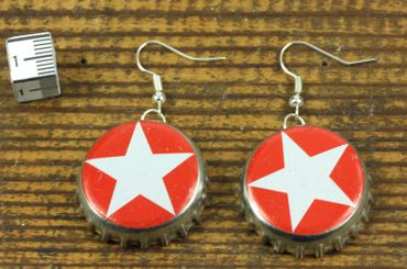 Capsules Star Earrings Miniblings Sterni Beer Christmas Berlin German Germany – Bild 3