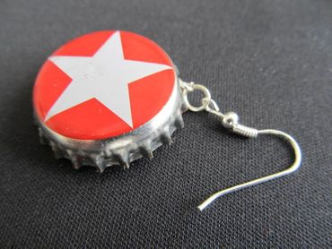 Capsules Star Earrings Miniblings Sterni Beer Christmas Berlin German Germany – Bild 4