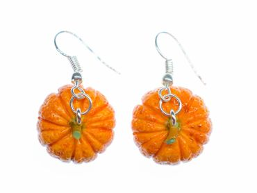 Pumpkin Earrings Miniblings Halloween Pumpkin Vegetable Autumn Earrings Food – Bild 2
