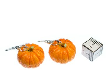 Pumpkin Earrings Miniblings Halloween Pumpkin Vegetable Autumn Earrings Food – Bild 3