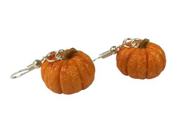 Pumpkin Earrings Miniblings Halloween Pumpkin Vegetable Autumn Earrings Food – Bild 1