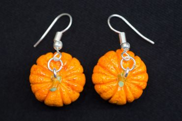 Pumpkin Earrings Miniblings Halloween Pumpkin Vegetable Autumn Earrings Food – Bild 4