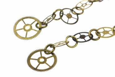 4 Gear Earrings Gears Mechanics Steampunk Clockwork Clock Brass Upcycling – Bild 2