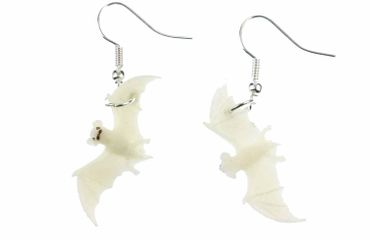 Bat Earrings Glow In The Dark Miniblings Halloween Vampire Lamp! – Bild 2
