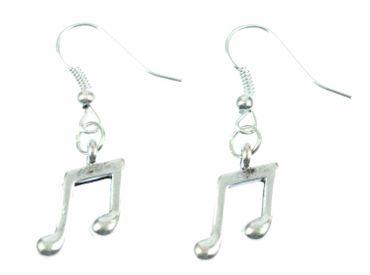 Noten Doppel Achtelnote Ohrringe Achtel Note Miniblings Musik Musiker silber – Bild 2
