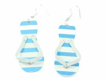 Slippers Earrings Flip Flops Miniblings Holiday Sandals Blue – Bild 3