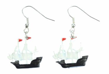 Pirate Ship Earrings Pendant Miniblings Maritim Boat Sailing Ship Pirate – Bild 1