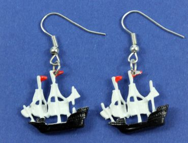 Pirate Ship Earrings Pendant Miniblings Maritim Boat Sailing Ship Pirate – Bild 3