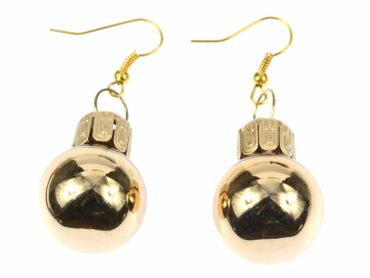 Glitter Balls Earrings Miniblings Glitter Balls Golden – Bild 1