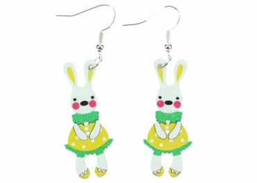 Easter Bunny Earrings Miniblings Easter Yellow – Bild 1