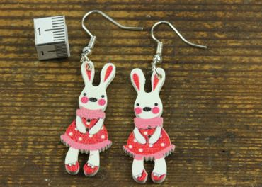 Easter Bunny Earrings Miniblings Easter Bunny Red – Bild 2