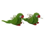 Parrot Earrings Miniblings Amazon Parrot Miniature Bird Green 001