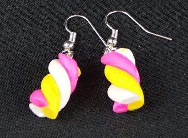 Marshmellow Earrings Miniblings Marshmallows Sweet Cawaii Yellow – Bild 1