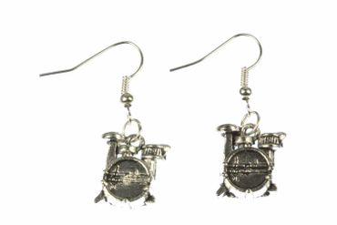 Drums Earrings Miniblings Drummer Drums Musician Drum – Bild 1
