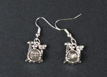Drums Earrings Miniblings Drummer Drums Musician Drum – Bild 2