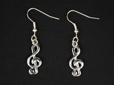 Treble Clef Earrings Clef Music Pendant Miniblings Piano Silver – Bild 3