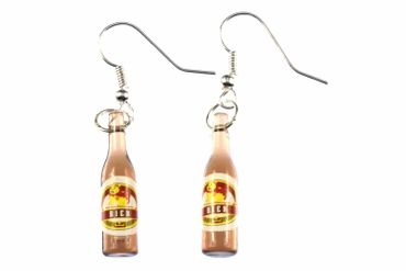 Beer Earrings Beer Bottles Miniblings Beer Earrings Drinks Comic Hero – Bild 1