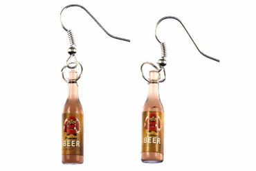 Beer Earrings Beer Bottles Miniblings Beer Earrings Drinks Monk – Bild 1