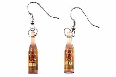 Bier Ohrringe Bierflaschen Hänger Miniblings Bierohrringe Getränke Mönch – Bild 1