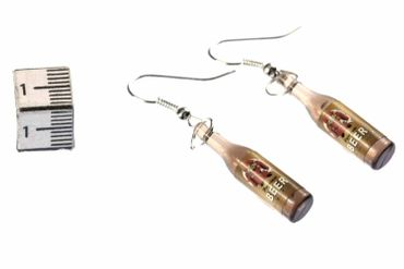 Beer Earrings Beer Bottles Miniblings Beer Earrings Drinks Monk – Bild 2