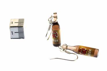 Bier Ohrringe Bierflaschen Hänger Miniblings Bierohrringe Getränke Mönch – Bild 3
