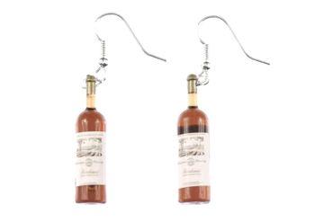 Wine Bottles Wine Earrings Miniblings Wine Earrings Brown Landscape – Bild 2