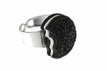 Biscuit Ring Biscuits Miniblings Cookie Double Chocolate Bite Cookie Dark – Bild 1