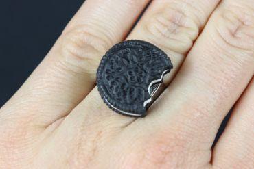Biscuit Ring Biscuits Miniblings Cookie Double Chocolate Bite Cookie Dark – Bild 3