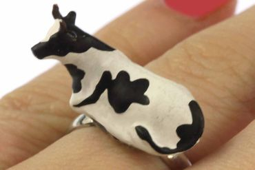 Cow Ring Finger Ring Miniblings Cows Farm Cattle  – Bild 2