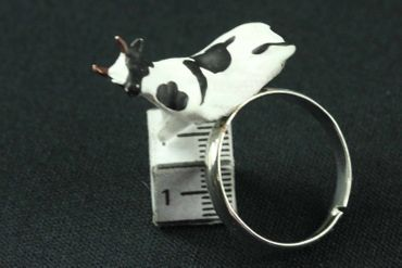 Cow Ring Finger Ring Miniblings Cows Farm Cattle  – Bild 3