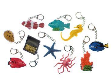 10er Set Seetiere Fisch Muschel Seestern Schlüsselanhänger Miniblings Seepferd – Bild 1