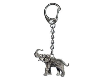 Elephant Key Ring Miniblings Pendant Key Ring Elephant Zoo Silver – Bild 1