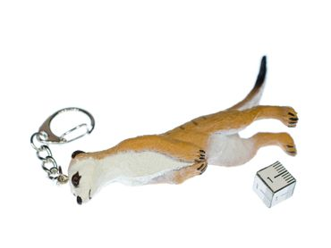 Meerkats Key Ring Miniblings Pendant Key Ring Prairie Dog 8cm – Bild 3