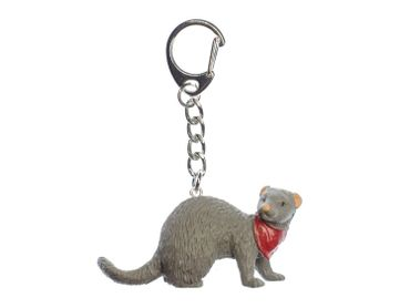 Ferrets Key Ring Miniblings Pendant Key Ring Marder Neckerchief – Bild 1