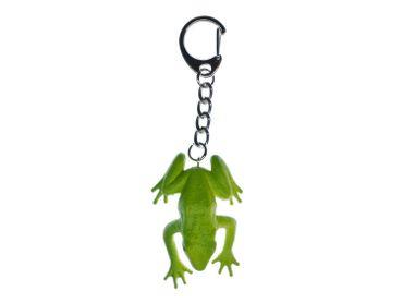 Frosch Schlüsselanhänger Miniblings Anhänger Schlüsselring Kröte Grasfrosch grün – Bild 1