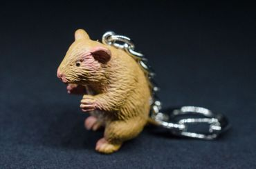 Hamster Key Ring Miniblings Pendant Key Ring Rubber Goldhamster – Bild 3