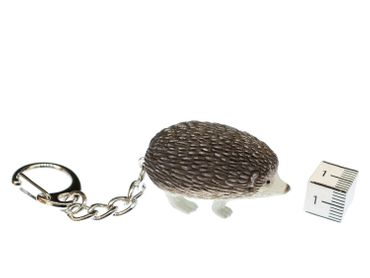 Hedgehog Key Ring Miniblings Pendant Key Ring Garden Rubber Animal Grey – Bild 2