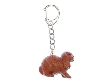 Rabbit Key Ring Miniblings Pendant Easter Bunny Rabbit Aries Brown – Bild 1