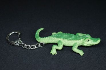 Crocodile Key Ring Miniblings Pendant Key Ring Crocodile Zoo Rubber – Bild 3
