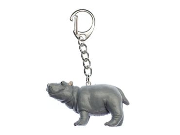 Hippo Key Ring Miniblings Pendant Key Ring Zoo Rubber – Bild 1