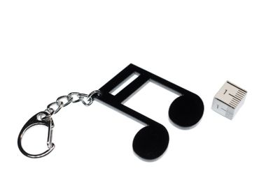 Notes Key Ring Miniblings Pendant Key Ring Semiquaver Sixteenth Music Black – Bild 2