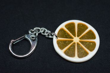 Orange Slice Orange Key Ring Miniblings Pendant Key Ring Orange – Bild 2