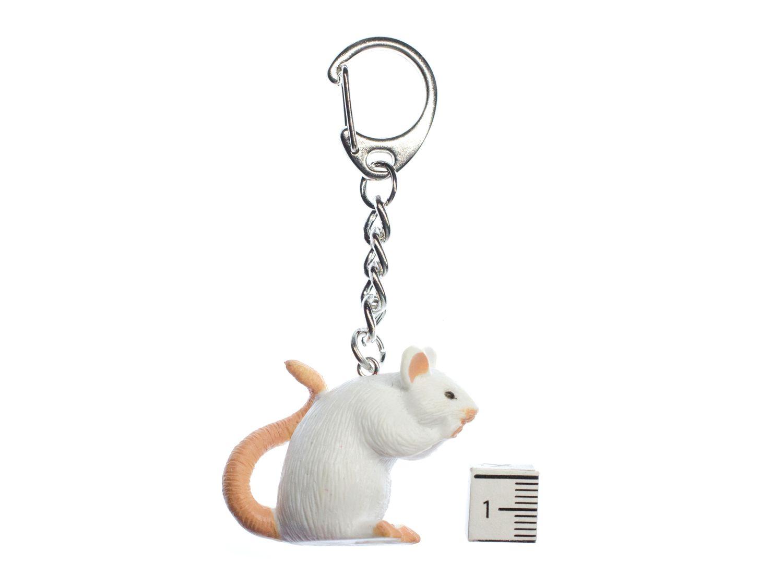 Ratte Schlüsselanhänger Miniblings Anhänger Schlüsselring Maus Halloween weiß